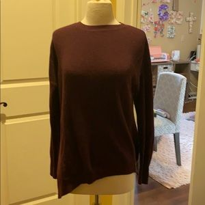 Burgundy ribbed Athleta Asymmetrical Sweater